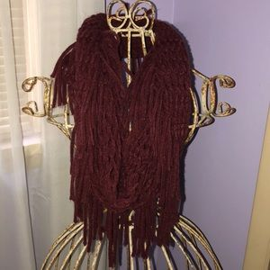 Knit waffle scarf